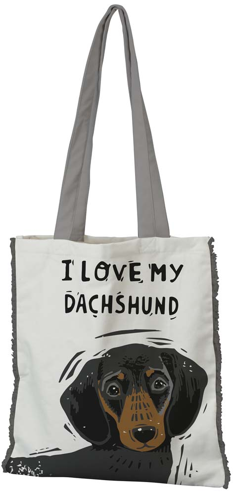 Dachshund Tote Bag Black