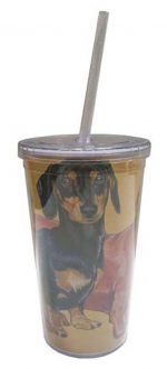 Dachshund Tumbler With Straw