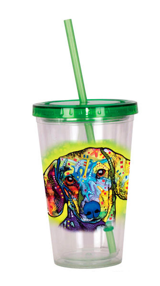 Dachshund Tumbler - Double Walled Acrylic 16 Ounces