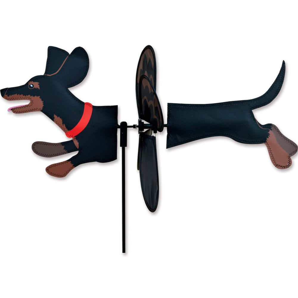 Dachshund Wind Garden Spinner Black