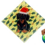 Dachshund Dog Crystal Glass Holiday Christmas Ornament Black 1