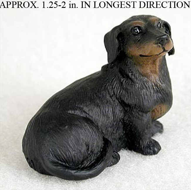 Dachshund Mini Resin Hand Painted Dog Figurine Black