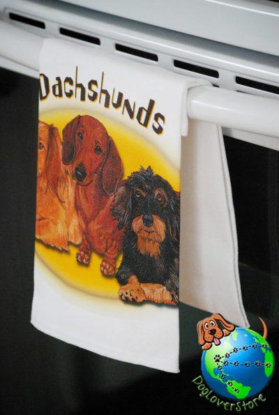 Dachshund Kitchen Hand Towel 1