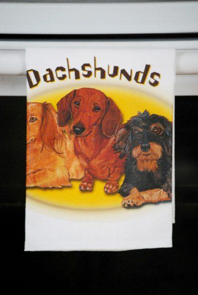 Dachshund Kitchen Hand Towel 2