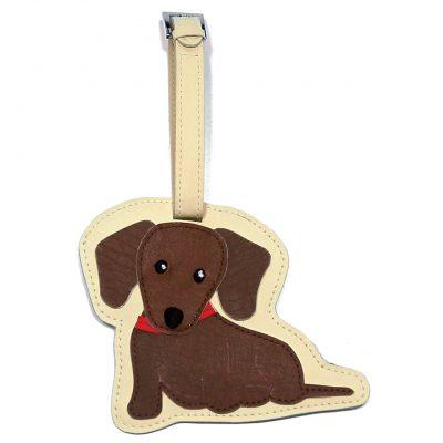 Dachshund Dog Luggage Tag Briefcase Gym Backpack Travel ID