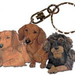 Dachshund Wooden Dog Breed Keychain Key Ring 1