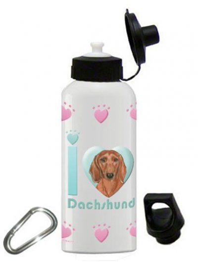 Dachshund Water Bottle Stainless Steel 20 oz 1