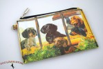 Dachshund Dog Bag Zippered Pouch Travel Makeup Coin Purse