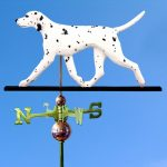 dalmatian-weathervane-black