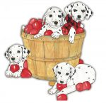 Dalmatian Wooden Magnet Family