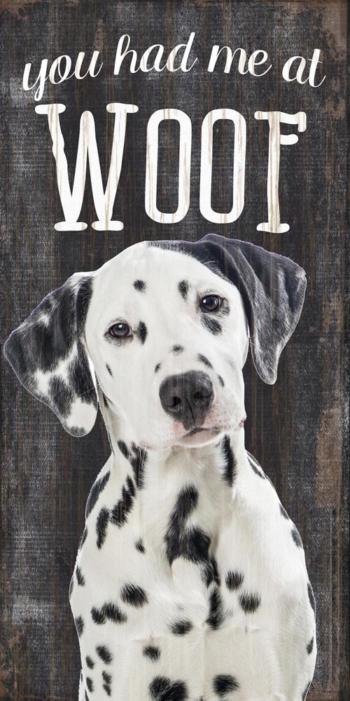 Dalmatian Sign - You Had me at WOOF 5x10