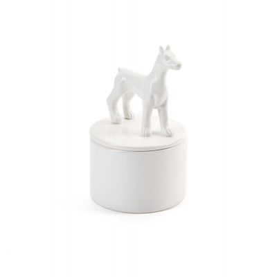 Doberman Pinscher Jewelry Box Porcelain 1