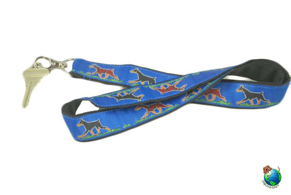 Doberman Pinscher Lanyard Key Holder Badge Holder