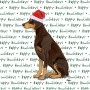 Doberman Pinscher Dog Coasters Christmas Themed Red 1