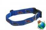 "Doberman Pinscher Dog Breed Adjustable Nylon Collar Large 12-20"" Blue"