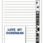Doberman Pinscher Dog Notepads To Do List Pad Pencil Gift Set 1