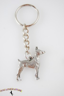 Dog Pewter Keychains