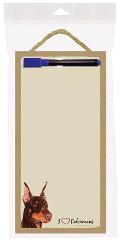 doberman_red_dog_wooden_memo_boards