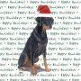Doberman Pinscher Dog Coasters Christmas Themed Black 1