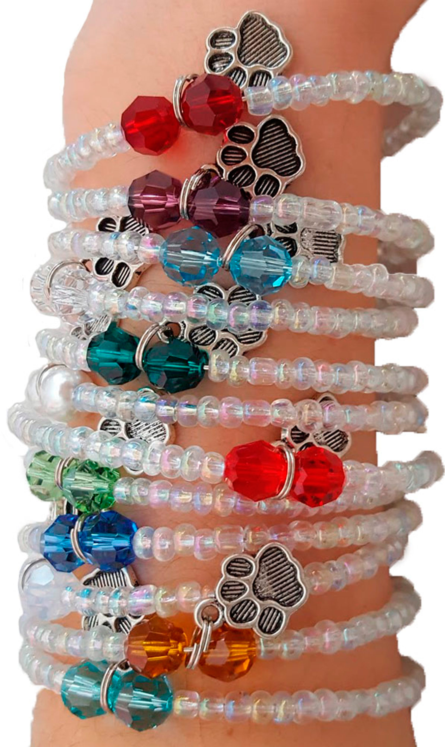 Dog Birthstone Bracelets