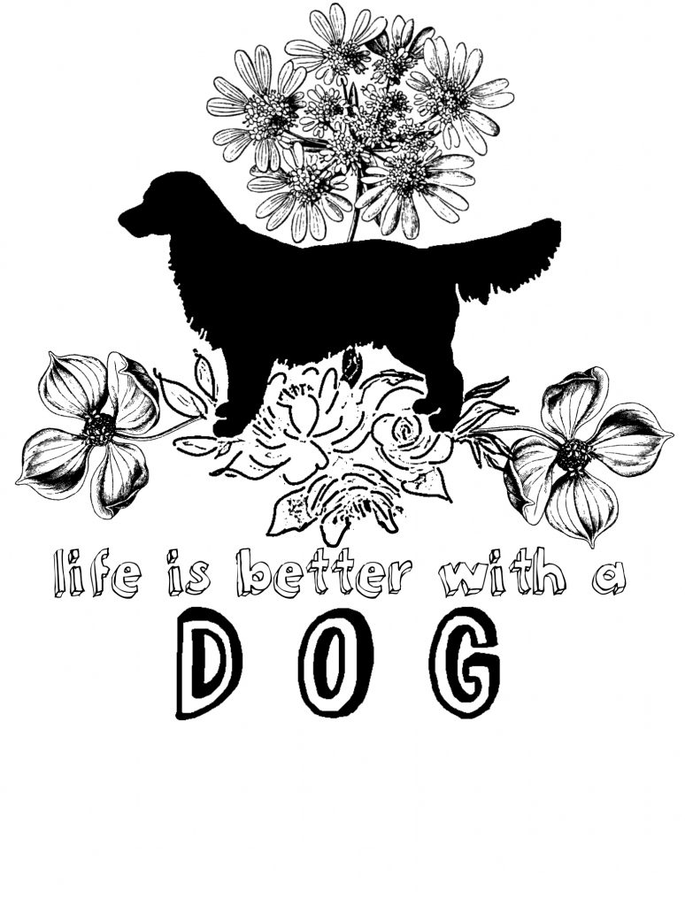 Dog Coloring Image 4