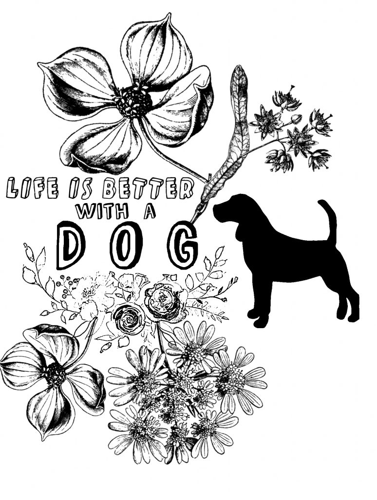 Dog Coloring Image 2