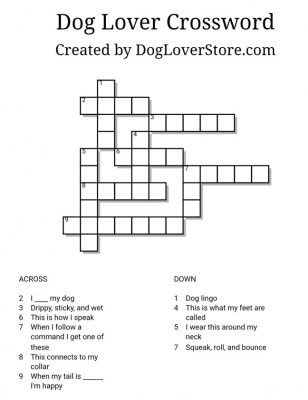 Dog Lover Crossword Puzzle