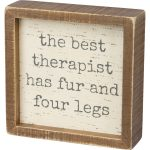 Best Therapist Dog Box Sign