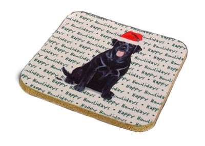 German Shepherd Dog Coasters Christmas Themed Black 2