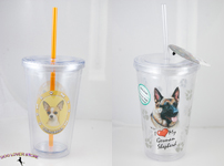 Reusable Double Walled Dog Tumblers