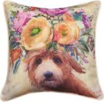 Labradoodle Bloom Pillow