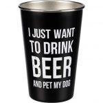 Drink Beer Pet Dog Pint Glass