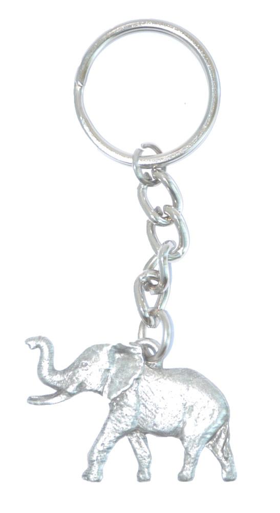 Elephant Keychain Pewter