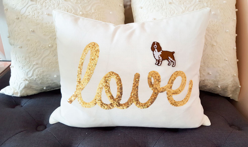 Dog Patch on Pillow