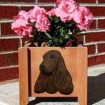 English Cocker Spaniel Planter Flower Pot Liver 1