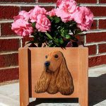 English Cocker Spaniel Planter Flower Pot Fawn 1