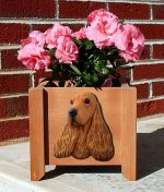 English Cocker Spaniel Planter Flower Pot Fawn