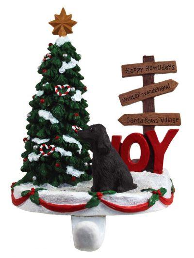 english-cocker-spaniel-stocking-holder-black