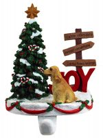 English Cocker Spaniel Stocking Holder Hanger Blonde