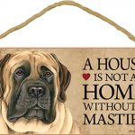 English Mastiff Wood Dog Sign Wall Plaque 5 x 10 + Bonus Coaster 1