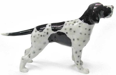 English Pointer Hand Painted Porcelain Figurine 1