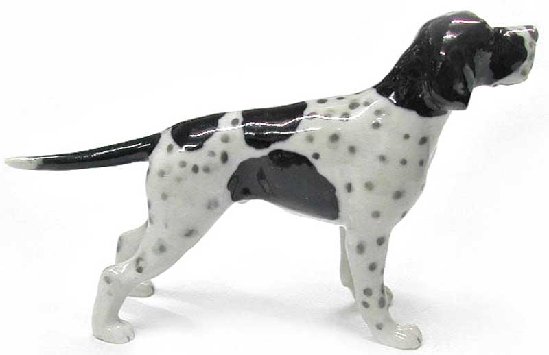 English Pointer Hand Painted Porcelain Figurine