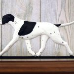 english-pointer-figurine-plaque-black-white