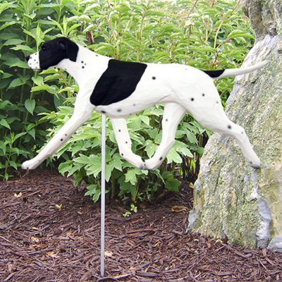 english-pointer-garden-sign-black-white