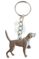 English Pointer Pewter Keychain