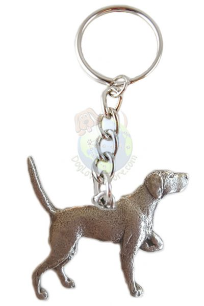 english-pointer-pewter-keychain