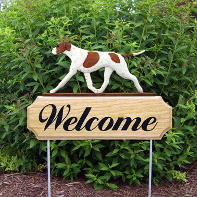 english-pointer-welcome-sign-orange-white