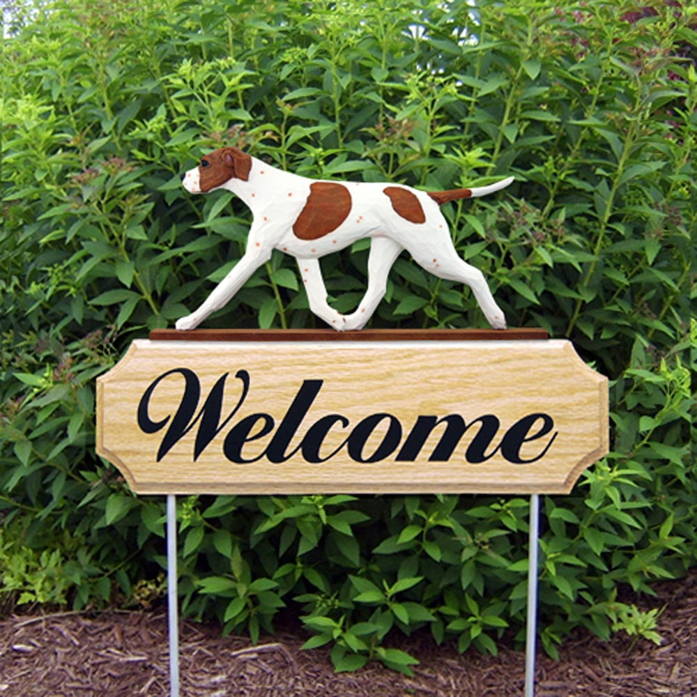 english-pointer-welcome-sign-orange-white