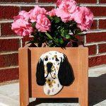 English Setter Planter Flower Pot Tri 1