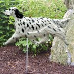 English Setter Garden Stake Sign Blue